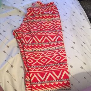 Urban outfitters chevron red nylon leggings